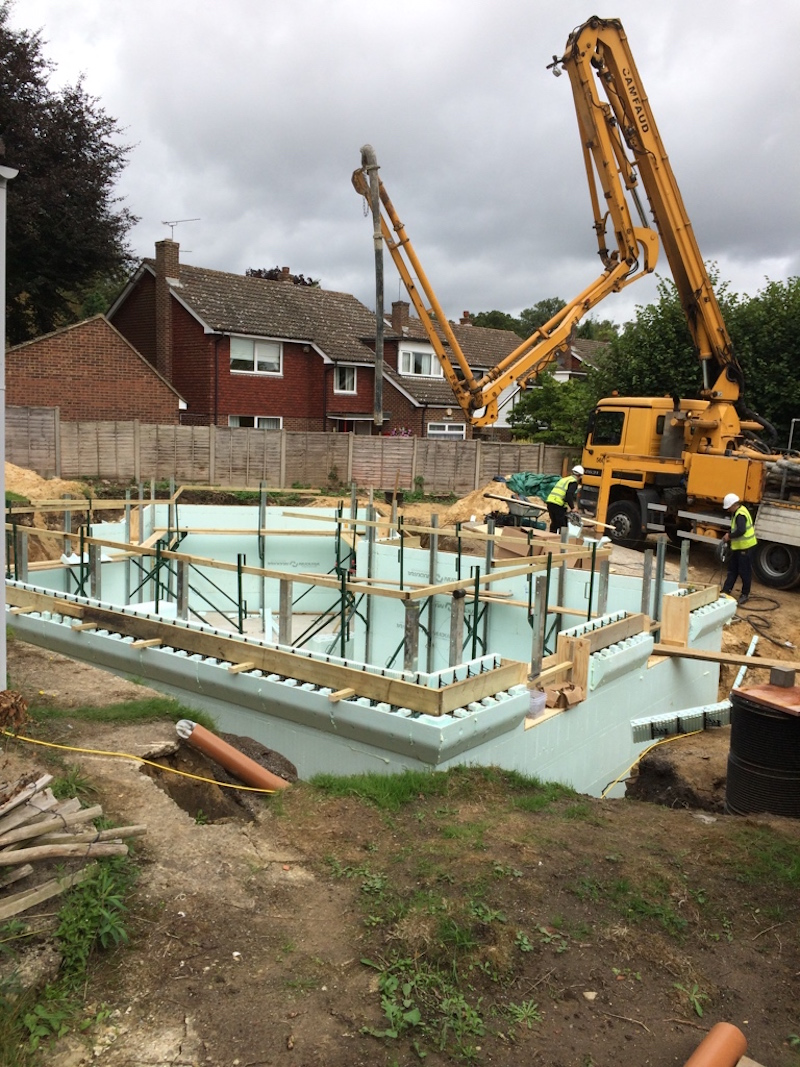 Addington Kent New raft foundation and ICF basement