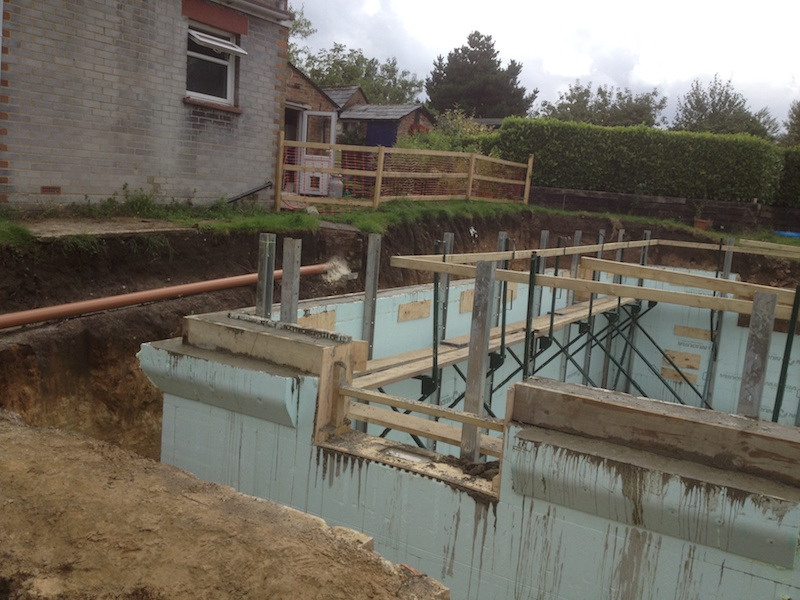Addington Kent Reinforced Concrete ring beam formed within ICF walls