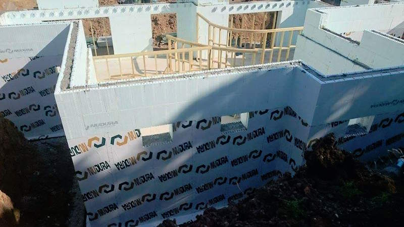 Essex ICF walls and 10 year warrantied external tanking membrane.jpg